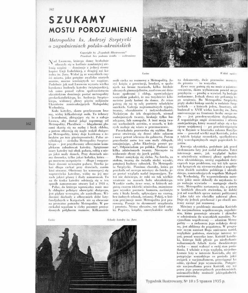 "Публікація у газеті ""Tygodnik Ilustrowany"""